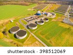 aerial view to biogas plant... | Shutterstock . vector #398512069
