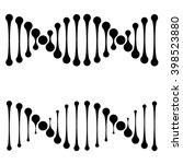 vector dna simple black symbols   Shutterstock .eps vector #398523880
