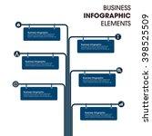 business infographics vector...   Shutterstock .eps vector #398525509