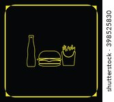 hamburger icon. french fries...