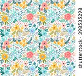 beautiful pattern in small... | Shutterstock .eps vector #398535298