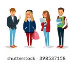 vector set of students with... | Shutterstock .eps vector #398537158