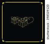 set of gifts icon. heart...