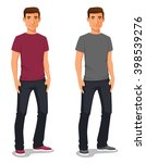 cartoon illustration of a young ...   Shutterstock .eps vector #398539276