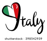 I Love Italy   Vector Graphic
