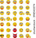 emoticons set | Shutterstock .eps vector #398543374