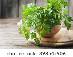 Green Fresh Parsley On The...
