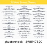 collection of vintage patterns. ... | Shutterstock .eps vector #398547520