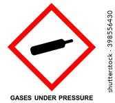 ghs hazard pictogram   pressure ... | Shutterstock .eps vector #398556430
