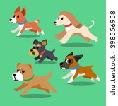 cartoon dogs running | Shutterstock .eps vector #398556958