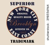 new york city typography  t... | Shutterstock . vector #398556964