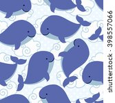 seamless pattern with cute... | Shutterstock .eps vector #398557066