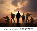 Six Military Silhouettes On...