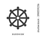 wheel of dharma  dharmachakra   ... | Shutterstock .eps vector #398559256