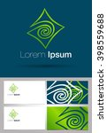 abstract logo.  | Shutterstock .eps vector #398559688