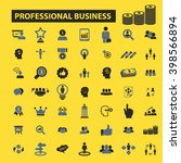 professional business icons  | Shutterstock .eps vector #398566894