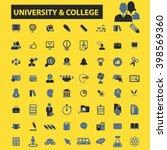 university college icons  | Shutterstock .eps vector #398569360