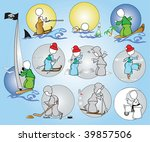 sport_hobby_rest_winter_summer | Shutterstock .eps vector #39857506
