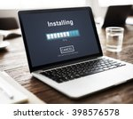 installing bar load waiting...   Shutterstock . vector #398576578