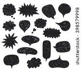 hand drawn vector sketch speech ... | Shutterstock .eps vector #398579998