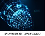 abstract technology shape of... | Shutterstock .eps vector #398593300