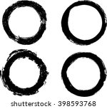 set of vector grunge circle... | Shutterstock .eps vector #398593768