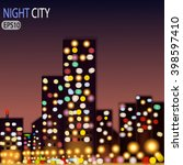 abstract night city landscape... | Shutterstock .eps vector #398597410
