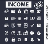 income icons  | Shutterstock .eps vector #398597524