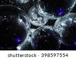 disco balls in dark  | Shutterstock . vector #398597554
