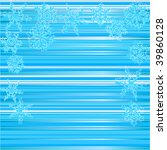 winter background  snowflakes   ... | Shutterstock .eps vector #39860128