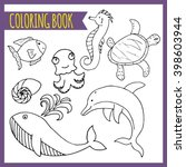 Coloring Book. Sea Theme....