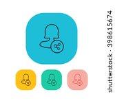 female user share icon