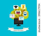 flat design vector. online... | Shutterstock .eps vector #398617954
