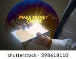 businessman holding mobile... | Shutterstock . vector #398618110