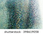 glass mosaic in the bathroom. | Shutterstock . vector #398619058