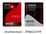 abstract vector modern flyer... | Shutterstock .eps vector #398622199