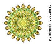 round mandala. arabic  indian ... | Shutterstock .eps vector #398628550