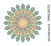 round mandala. arabic  indian ...   Shutterstock .eps vector #398628553