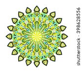 round mandala. arabic  indian ...   Shutterstock .eps vector #398628556
