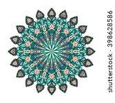 round mandala. arabic  indian ...   Shutterstock .eps vector #398628586