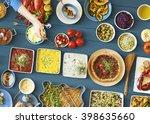 food festive restaurant party...   Shutterstock . vector #398635660