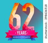 62 years anniversary... | Shutterstock .eps vector #398636518