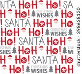 seamless background with ho ho... | Shutterstock .eps vector #398638120