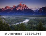 Morning View Of The Tetons Fro...