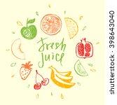 fresh juice.design element for... | Shutterstock . vector #398643040