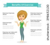 benefits of exercise ... | Shutterstock .eps vector #398652130