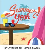 happy summer yeah banner | Shutterstock .eps vector #398656288