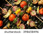 grilled veggie skewers with... | Shutterstock . vector #398658496