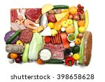 a set of food products isolated ... | Shutterstock . vector #398658628