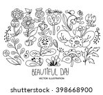 beautiful plain floral element... | Shutterstock .eps vector #398668900
